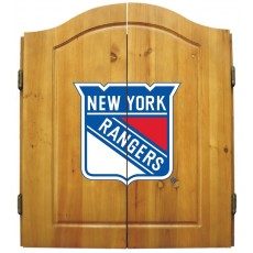 New York Rangers NHL Dartboard Cabinet Set
