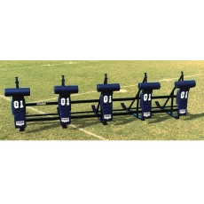 Fisher CL5T JV Football Blocking Sled - T PAD, 5 MAN