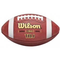 Wilson Pop Warner TDJ Official Leather Football, age 9-12