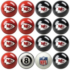 Kansas City Chiefs NFL Home vs Away Billiard Ball Set