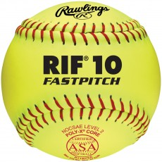 "Rawlings RIIRYSA ASA RIF Level 10, Synthetic Fastpitch Softballs, 11"", dz"