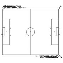 Kwik Goal 18A1101 Soccer Kwik Chart, Full Soccer Field