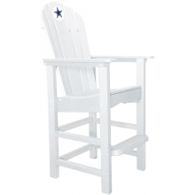 Dallas Cowboys NFL Outdoor Pub Captains Chair, WHITE