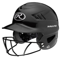 Rawlings RCFTB Coolflo Molded Tee Ball Batting Helmet, w/ Faceguard ATTACHED