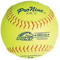 "Pro Nine 47 PL12 47/375 Official Pony League Fastpitch Softballs, 12"", dz"