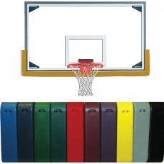 Gared PKLXP20PM Collegiate Basketball Backboard, Rim & Pad Package