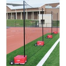 Jaypro 12' x 60' Portable Field Backstop Netting System, PFN-1260PKG
