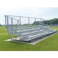 5 Row, 15' DELUXE Aluminum Bleacher, w/ CHAIN LINK