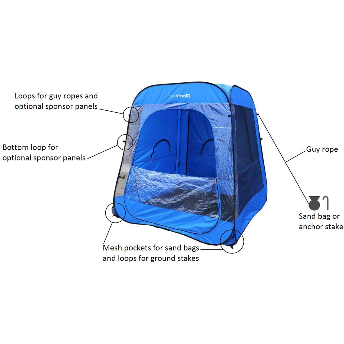 sc 1 st  Anthem Sports & TeamPod™ UnderCover™ All Weather SportPod™ Pop Up Chair Tent
