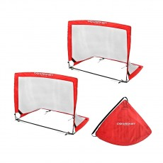 POWERNET 3' x 4' Rectangular Pop Up Soccer Goal (2 Goals + 1 Bag)