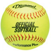 "Diamond 11YOS Official Softballs, 11"" Yellow"