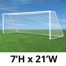 Jaypro CC21S Classic Club Soccer Goals, 7' x 21', pair