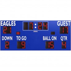 Sportable Scoreboards 7420 Football Scoreboard, 20'W x 8'H