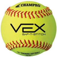 "Champro VEX SAF-T-STICH Soft Core Practice Softballs, 12"", dz"