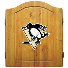 Pittsburgh Penguins NHL Dartboard Cabinet Set