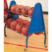 Bison BA125 Heavy Duty Basketball Cart, Holds 12