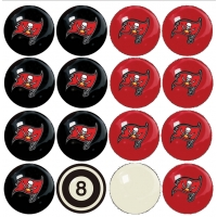 Tampa Bay Buccaneers NFL Home vs Away Billiard Ball Set
