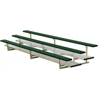 3 Row, 15' STANDARD Powder Coated Bleacher