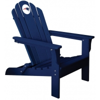New England Patriots NFL Folding Adirondack Chair, NAVY
