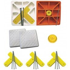 """Soft Touch S14DBL-SET 14"""" Spike-Down Base Set w/ Double First Base"""