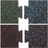 Loktuff Protective Weight Room Rubber Flooring, Assorted Colors