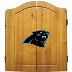 Carolina Panthers NFL Dartboard Cabinet Set