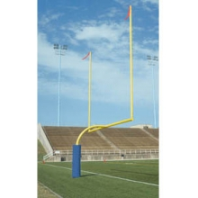 Bison Official High School Gooseneck Football Goal Posts, 5-9/16'' dia., YELLOW, FB55HS-SY