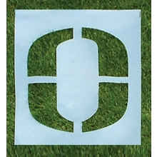 Standard Football Field Stencil, 6'H, Single Letter or Number