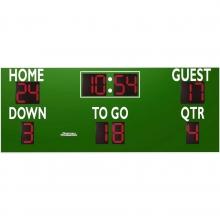 Sportable Scoreboards 7416 Football Scoreboard, 16'W x 6'H