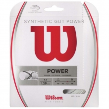 Wilson Synthetic Gut Power 17/1.25mm Tennis String, 40'