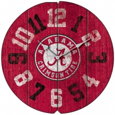 Vintage Round Clock, University of Alabama, Crimson Tide