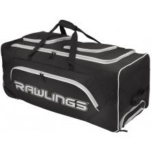 "Rawlings Wheeled Catcher's Equipment Bag, YADIWCB, 37"" x 14"" x 14"""