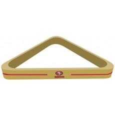 San Francisco 49ers NFL Billiards Triangle Rack