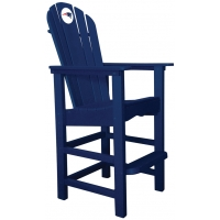 New England Patriots NFL Outdoor Pub Captains Chair, NAVY