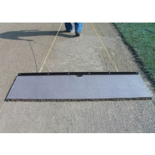 White Line 4' x 2' Cocoa Infield Drag Mat