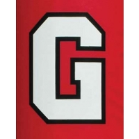 Sewn-On Vinyl Lettering for Football Goal Post Pads, 2 COLOR BLOCK