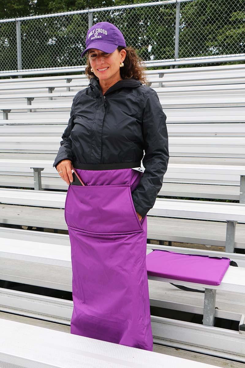 Wrapalap 174 All Weather Fleece Stadium Leg Blanket With Pockets Amp Seat Cushion