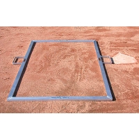 Jaypro BBTMLL Heavy Duty Folding Batter's Box Templates, Youth, 3' x 6'