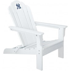 New York Yankees MLB Folding Adirondack Chair, WHITE