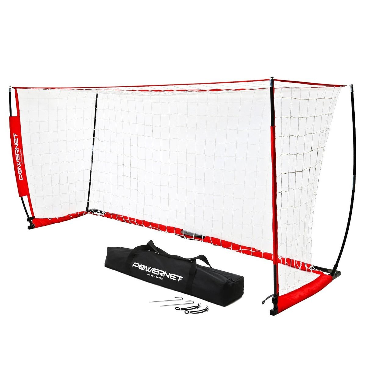 powernet 8 39 x 24 39 pop up soccer goal. Black Bedroom Furniture Sets. Home Design Ideas