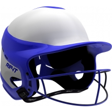 Rip-It VISN Fastpitch Softball Batting Helmet w/ Mask, MED/LARGE