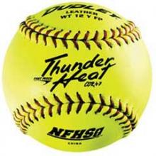 Dudley Thunder Heat WT12YFP NFHS 47/375 12'' Leather Fastpitch Softballs, dz