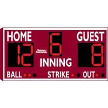 Sportable Scoreboards 3314 Baseball-Softball Scoreboard, 8'Wx4'H