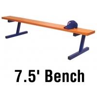 Jaypro Aluminum Player Bench, Powder Coated, PORTABLE, 7.5'