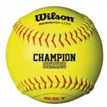 "Wilson WTA9106BASA-LOW 47/375 ASA Synthetic Fastpitch Softballs, 12"", dz"
