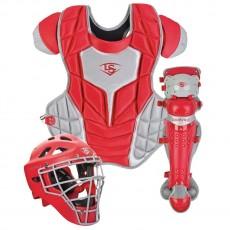 Louisville Series 5 Fastpitch Intermediate Catcher's Set, Scarlet/Gray