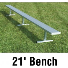 National Rec 21' PORTABLE Aluminum Team Player Bench