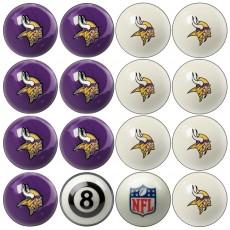 Minnesota Vikings NFL Home vs Away Billiard Ball Set