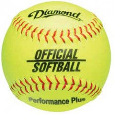 "Diamond 12YOS Official Softball, 12"" Yellow"