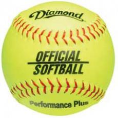 "Diamond 12YOS Official Synthetic Softball, 12"" Yellow"